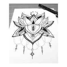 #Draw #Drawing #FlordeLotto #Mandala #ilustration #Art #painting