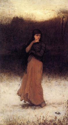 George Henry Boughton (1833-1905) - A Wintry Contemplation
