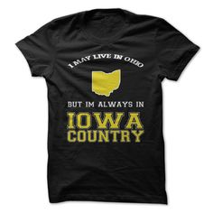 Ohio Iowa ᓂ CountryGet this shirt and represent by wearing it proudly!Iowa hawkeyes, iowa, ohio fans