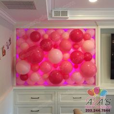 Light up Pink Organic Balloon Walls  | Fairfield County, CT & NY #PartyWithBalloons