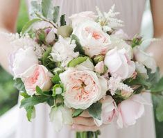 Pale Pink Wedding Bouquet  For more insipiration visit us at https://facebook.com/theweddingcompanyni or http://www.theweddingcompany.ie