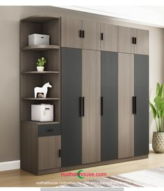 Sliding Door Wardrobe Designs, Wardrobe Design Bedroom, Bedroom Furniture Design, Closet Designs, Room Door Design, Home Room Design, Sofa Set Designs, Corner Designs, House Beds For Kids