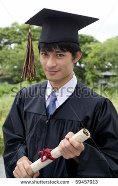 Portrait of male graduate in cap and gown Stock Photos, Portrait ...