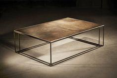 brass binate table by bert & may | notonthehighstreet.com