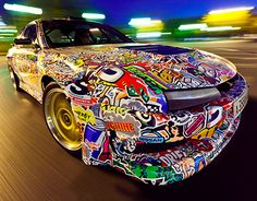 I'm happy to present my new artwork for Russian drift racer Ivan Illesh aka Der Vater, I was working on graphics fro his car Nissan Silva 200SX. He said to me that his car is really powerful inside, but outside was looking like rubbish... and if we had to…