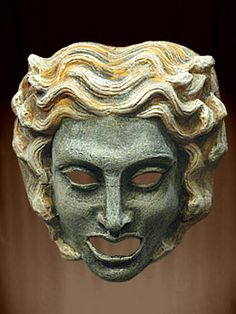GREEK MASK THEATER TRAGEDY - THEATRHALL, PURCHASE, SALE - Clothing ...