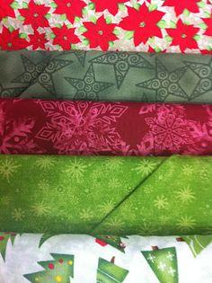 GATA BORDADEIRA: Coleção de tecidos Natalinos 2012