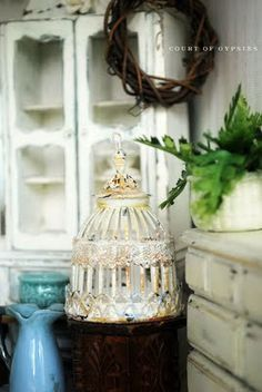 In the Court of the Gypsies: Dollhouse Miniature Bird Cage Tutorial
