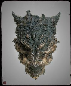 Beast Mask, Zhelong XU on ArtStation at https://www.artstation.com/artwork/4PLWL