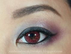 BeautyRedefined by Pang: Super Pinky Wine Red Circle Lenses Review