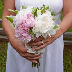 The hand-picked appearance of this peony bouquet would feel right at home in a garden-inspired wedding.