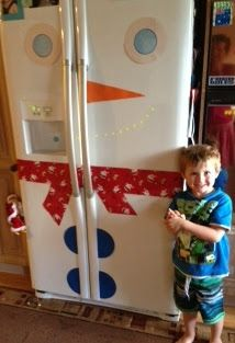 Adventures at home with Mum: Our Snowman Christmas fridge