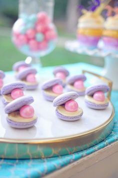 These macarons at Stella's Water Color Mermaid Party are amazing! Don't miss the rest of this gorgeous birthday party! See more party ideas and share yours at http://CatchMyParty.com