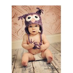 crochet pattern - baby owl hat - multiple sizes from newborn to 12 months Crochet Owl Hat, Crochet Baby, Baby Patterns, Crochet Patterns, Cute Kids, Cute Babies, Etsy Shop Names, Owl Photos, Baby Owls