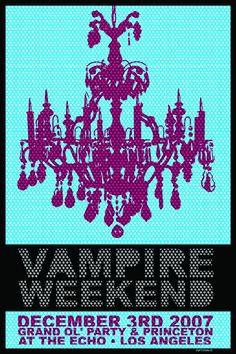 Vampire Weekend / concert poster