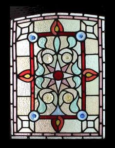 """A VERY SPECIAL, RARE AND BEAUTIFUL WINDOW. The frame measures 21 1/2""""W x 31""""H INCLUDING SASH FEET OF 3"""". AMAZING VICTORIAN RONDELS ANTIQUE STAINED GLASS WINDOW. The glass has no chips or scratches and the leading is good.   eBay!"""