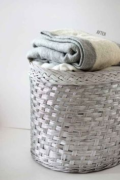 Make your wicker basket a little less traditional with metal spray paint.