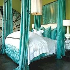 Bedroom Pillows Love This Peacock Blue Color My