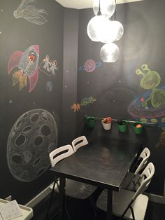 out of this world chalkboard wall