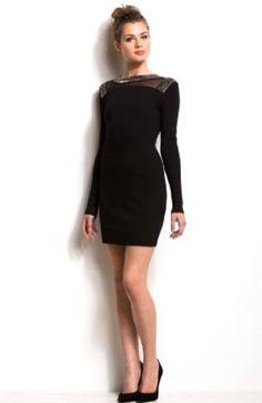 Armani Exchange Embellished Collar Ponte Dress