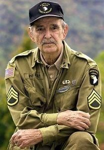 "Airborne Forever     Staff Sergeant Darrell ""Shifty"" Powers     WW II United States Army       Easy Company 506th P.I.R. 101st. Airborne"