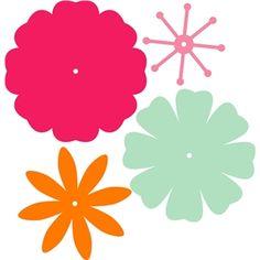 Silueta tienda de diseño - Vista Diseño # 17645: flores de 8 pétalos