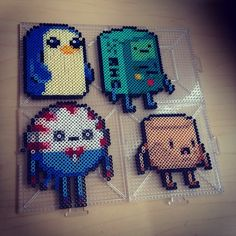 Adventure Time characters hama beads by smargetts