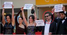 Cineasta que liderou protesto de golpistas de esquerda em Cannes está em folha de pagamento do governo federal