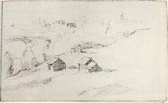 I.LEVITAN,  ''Village by the ravine.''