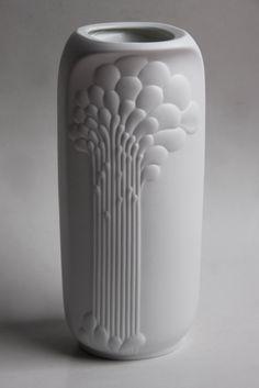 Vintage German Porcelain Op Art Vase - Michaela Frey 1970s for Kaiser