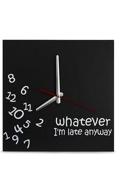 Whatever Wall Clock by Decodyne Best Price