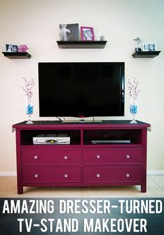 Amazing Dresser-turned-tv-stand Makeover!