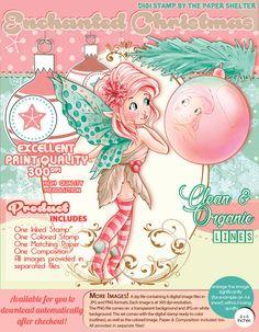 Enchanted Christmas - Digital Stamp