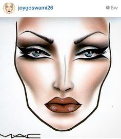MAC Face Chart by joygoswami26 from Instagram. Beautiful ❤️❤️❤️