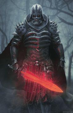 ArtStation - Lord Vader, brahim azizi  tags : painting art star wars