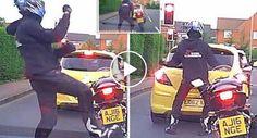 Motociclista Entusiasma-se e Dança Energeticamente Enquanto Espera Na Fila De Trânsito