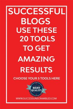 Ever wondered what the top 20 tools used by successful blogs in the industry?  Here are 20 that I found to really bring results. Click here to choose your 5. #blog #blogging #bloggingtips
