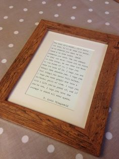Rustic wood effect frame with hand-typed quote of your choice birthday gift anniversary wedding thank you girlfriend boyfriend Anniversary Ideas For Him, First Wedding Anniversary, Paper Anniversary, Rustic Feel, Rustic Wood, Wedding Thank You, Wedding Gifts, Typed Quotes, Hand Type
