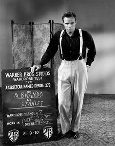 Marlon Brando at a wardrobe test for A Streetcar Named Desire