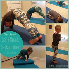 From a developmental standpoint, the poses in Good Night, Animal World are great gross motor activities for targeting flexibility, balance, coordination, and strengthening.   #kidsyogastories #bookreview #yogaforkids