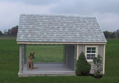 8'x12' Dog House & Kennel Run