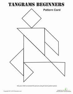 Air travel Dublin Kindergarten Shapes Patterns Worksheets: Easy Tangrams Puzzle #7