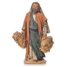 Uomo con fascine di paglia 13 cm Angela Tripi   vendita online su HOLYART