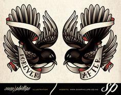 Willie Wagtail Tattoos by Sam-Phillips-NZ.deviantart.com on @deviantART