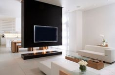 glamorous tv wall unit with fireplace: tv-wall-unit-with-fireplace-wall-units-with-fireplace-and-bookshelve-Stunning- Small Room Divider, Bamboo Room Divider, Glass Room Divider, Wall Units With Fireplace, Fireplace Design, Black Fireplace, Fireplace Ideas, Minimalist Fireplace, Portable Room Dividers