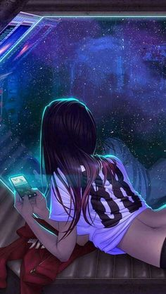 futuristic girl, shadowrun art things animasjon, cyberpunk og a Digital Art Girl, Digital Art Anime, Henna Tattoo Muster, Manga Art, Anime Art, Manga Anime, Character Art, Character Design, Character Inspiration
