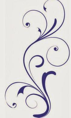 Stencil Patterns, Stencil Art, Stencil Designs, Embroidery Patterns, Stencils, Swirl Design, Border Design, Pattern Design, Lettering Tutorial