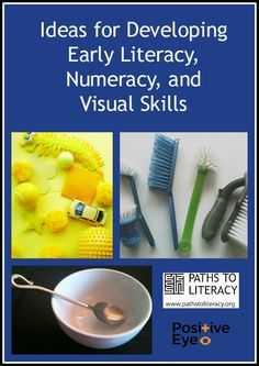 Ideas for supporting visual discrimination of objects and images --  at the same time showing how early literacy and numeracy skills can be developed.