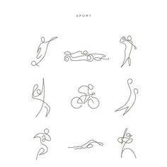 SPORT IN ONE LINE The power of simplicity. Extract the most essential thing of an elements Credit: Differantly Studio Paris #oneline#oneliners#art#artistic#sketch#sketchbook#drawing#illustration#artinstallation#whataninspiration#inspiration#morning