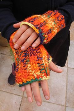 Chunky Ribbed Crocheted Wrist Warmers For Adults And Children